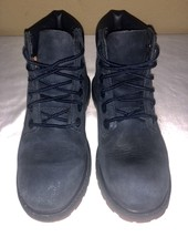 """Timberland 1383A Navy 6"""" Boots Nubuck Leather Toddler Size 12 - $37.16"""