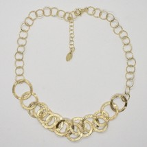HALSBAND 925 SILBER FOLIE GOLD MIT KREISE BY MARIA IELPO MADE IN ITALY image 1
