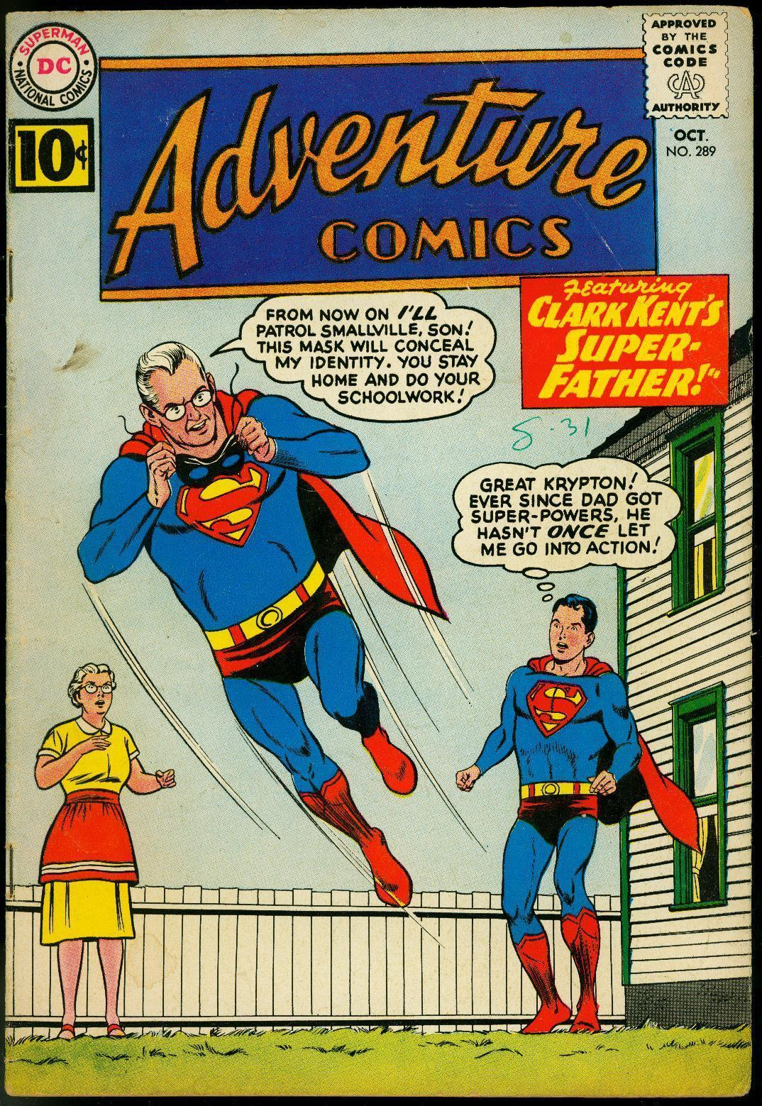 ADVENTURE COMICS #289 1961-SUPERBOY-BIZARRO STORY-DC-very good VG