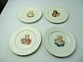 Antique French St Amand les Eaux King Louis XIV porcelain dessert plate ... - $100.00