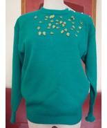 Rainbow Ridge Lovely Turquoise Knit Sweater Pullover Top Sz S MINT - $19.42