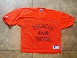 Vintage Denver Broncos Mesh Practice Jersey Champion Men's 44 NFL Footba... - $15.99