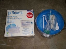 Dr. Brown's Natural Flow Microwave Steam Sterilizer Gift Set New Open Box - $24.99