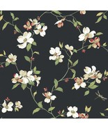 Dogwood Tree Floral Blooms Wallpaper Ashford House York Wallcoverings GE... - $69.99