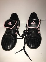 Kids Adidas SPG 753001 Pink/Black Girls  Soccer Cleats, Size 13k Cleaned - $13.35