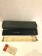 Vintage Keuffel & Esser K & E Slide Rule 4081-3 w/ Leather Case & Box - $42.07