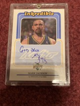 Mark Jackson Autographed 1999 Upper Deck Inkredible Retro Card - $9.49