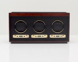 WOLF Meridian Collection Modular Triple Watch Winder - Burlwood 453710 - $740.00