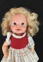 Mattel Vintage Baby Doll Blonde Hair Vinyl Original Dress Girl Doll Coll... - $14.84