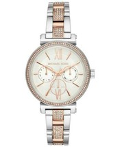 Michael Kors MK4353 Sofie Watch w/ Bing Silver & Rose Gold NWT - $106.61