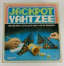 Jackpot Yahtzee Classic Board Game E200 ES Lowe 1980s - $18.69