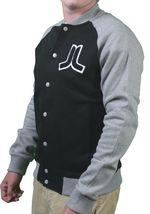 WeSC Balker Black Raglan Fleece Button Baseball Sweater Jacket Large NWT image 3