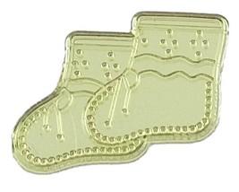 Booties Acrylic Charm-Yellow - $9.85
