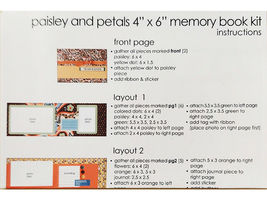 "S.E.I. Scrapbook in a Bag, Paisley & Petals, an Autumn 4"" x 6"" Memory Book Kit image 4"