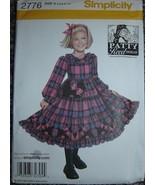 Simplicity Pattern 2776, Patty Reed Designs, Girls Dress Size A (3/4/5/6... - $18.81