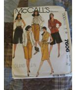 Mc Calls 7606 Misses Size 16 Jacket, Top, Skirt, Culotte And Sash is uncut - $6.99