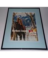 1988 Marlboro Country Cigarettes 11x14 Framed ORIGINAL Advertisement - $32.36