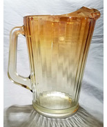 Vintage Jeannette Marigold to Clear Paneled Water Pitcher (circa 1950s) - $22.50