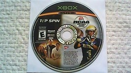 NCAA Football 2005 / Top Spin Combo (Microsoft Xbox, 2004) - $2.85