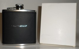 Take the Risk Liquor Flask 6 oz Papyrus black stainless steel square gift - €18,94 EUR