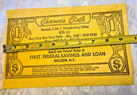 WETTEX First Federal Savings and Loan Advertising Chamois Cloth - Wilson NY image 2
