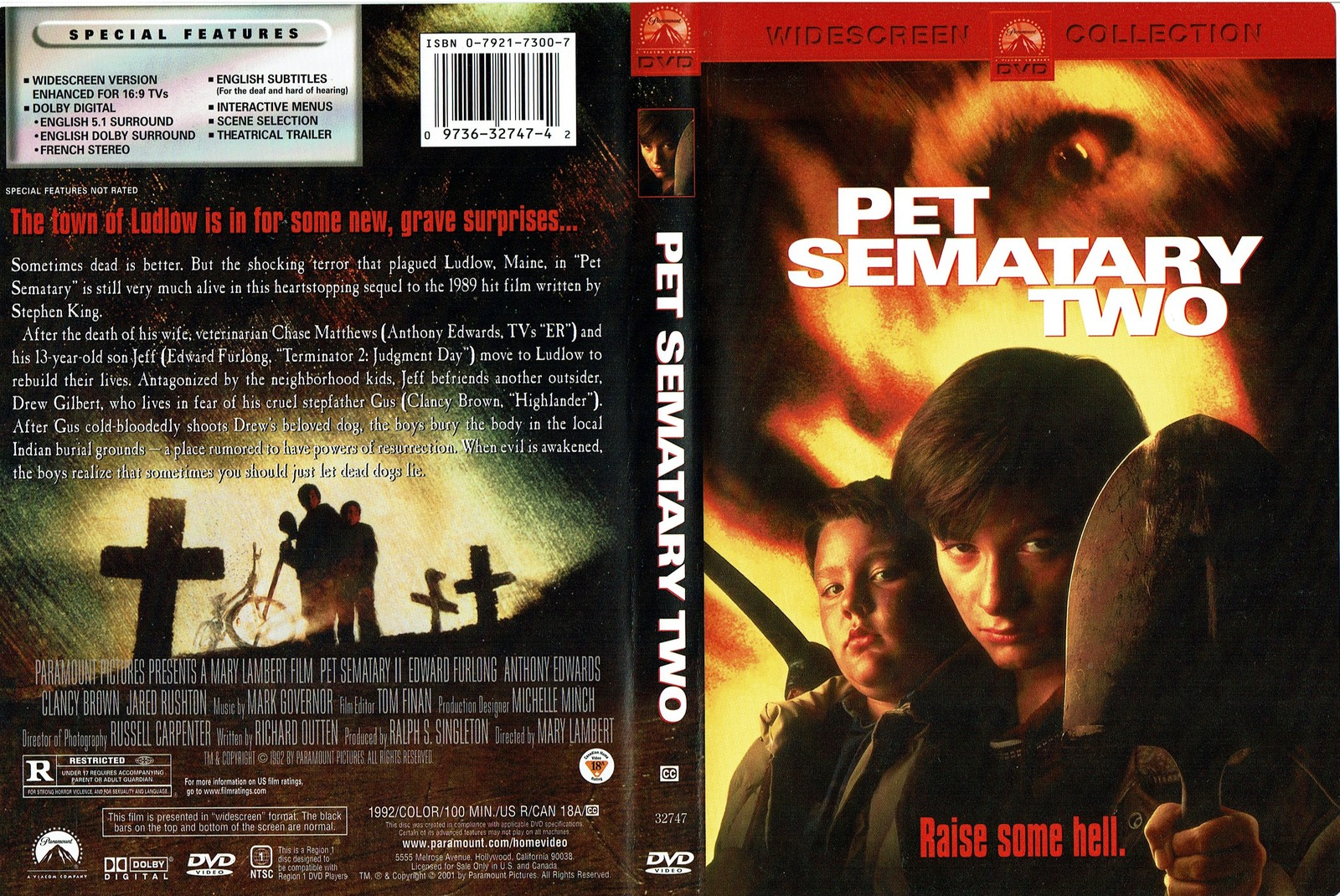 Pet Sematary Two, Raise Some Hell, DVD, Widescreen, 2001