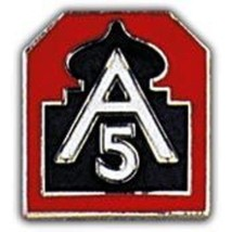 United States Army 5th Fifth Army North Homeland Defense Hat Lapel Pin - $4.94