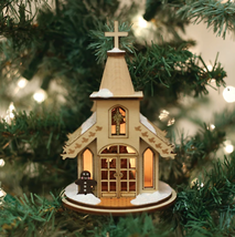 Old World Christmas Ginger Cottages Nativity Chapel Christmas Ornament 80003 - $19.88