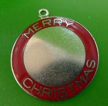 Vintage Danecraft Charm Sterling Merry Christmas Red Enamel - $35.00