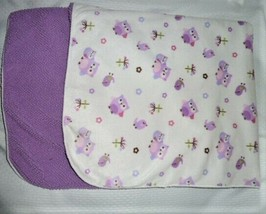 "JUST BORN Owl Bird Purple Sherpa baby blanket 30x40"" Sherpa  - $25.73"