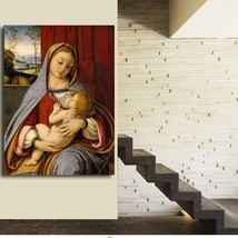 1 Pcs Leonardo Da Vinci Virgin Mary Wall Picture Canvas Painting 20x28inch - $39.99