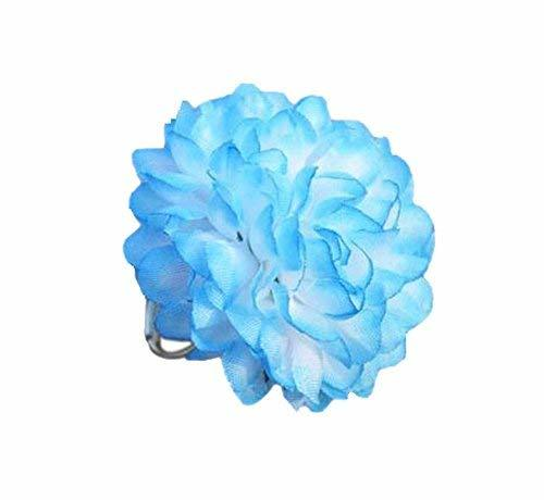 4 Pieces Of Creative Handmade Jewelry Adjustable Light Blue Flower Ring