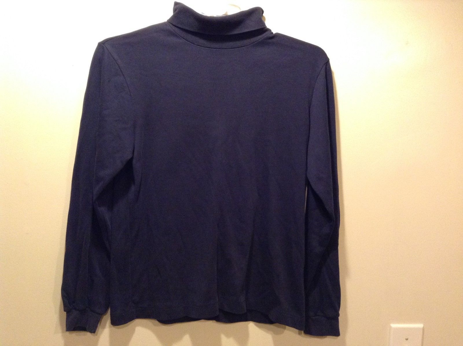 Lands' End Ladies Navy Blue Turtleneck Sz 10-12