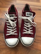 Men's Converse All Star Size 10 Women's Size 12 Red Tennis Shoes White Soles - $24.99