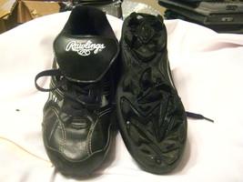 Rawlings Youth Baseball/Softball Cleats Black Size: 3Y - $12.00