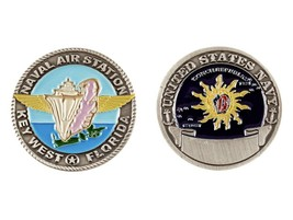 """NAS NAVY NAVAL AIR STATION KEY WEST FLORIDA 1.75"""" CHALLENGE COIN - $19.21"""