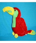 "Plush BIRD PARROT 12"" Play Time Toys Red Green Yellow Stuffed Animal Sof... - $13.52"