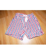 Infant Size 6-9 Months Disney Store Red White Blue Plaid Checked Print S... - $10.00