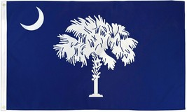 "STATE OF SOUTH CAROLINA 3X5' FLAG NEW 36""X60"" BIG - $9.85"