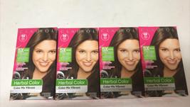 4 Clairol Herbal Color Me Vibrant 62 Foxy Medium Brown Permanent Hair Dye - $45.99
