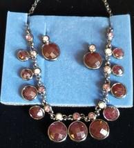 Avon 2007 Frontal Bezel Drop Necklace & Earring Gift Set - $6.93