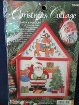 Santa Rudolph Christmas Cottage Bucilla Counted Cross Stitch Kit 33492 New - $20.00