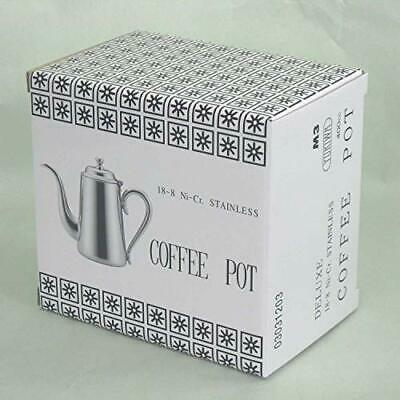Yukiwa 18-8 M-type Coffee Pot for 3 people w/Tracking# Japan New
