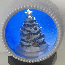 Mr. Christmas White Glitter Ball Ornament Lighted Tree Battery Operated - $18.54