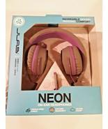JLab Audio Neon On-Ear Wired Headphones Gray/Purple BRAND NEW  - $21.73