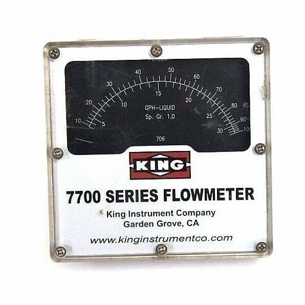 KING MODEL 7700 SERIES FLOWMETER,  7711230706, 1500 PSI MAX PRESS