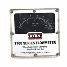KING MODEL 7700 SERIES FLOWMETER,  7711230706, 1500 PSI MAX PRESS image 1