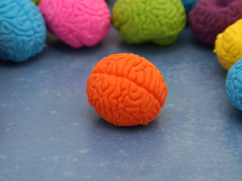 "Cute Rubber Brain Eraser 1"" (Random Color)"