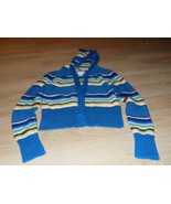 Girl's Size Medium SO Striped Cardigan Button Up Hooded Sweater Jacket T... - $15.00