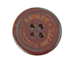 """Ralph Lauren Plastic Faux Leather Brown Replacement Pocket Sleeve button .60"""" - $3.91"""